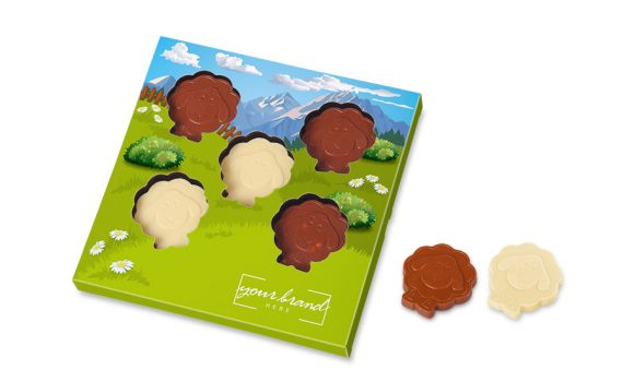 Easter lamb shape chocolates 5 pcs
