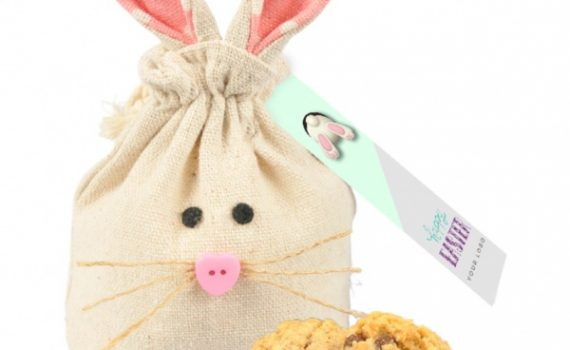 Easter natural bunny bag