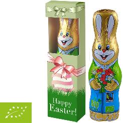 Organic chocolate easter bunny 75g