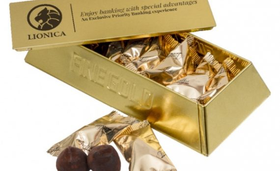 Promotion Gold Bar 10 pcs french truffles 55 g