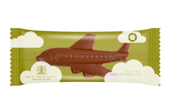 Promotion chocolate airplane 9g
