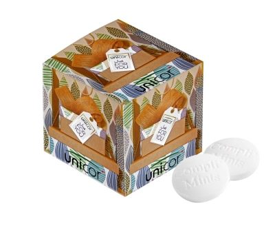 Promotion square box with 17g Compli'mints