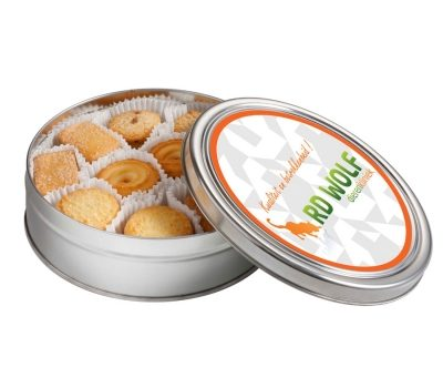 Round cookie tin