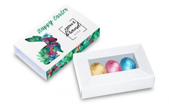 Easter 3 pcs chocolates in a box