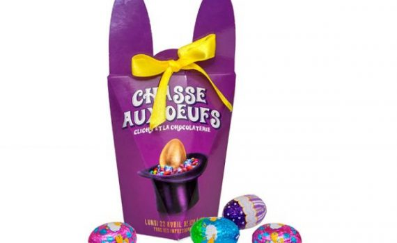 Easter box with 7 chocolate eggs