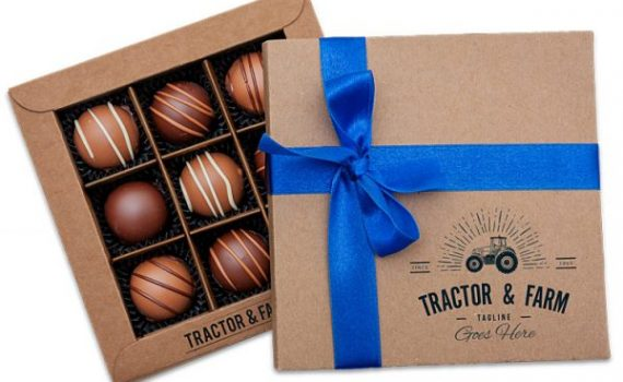 Promotion Box with 9 Belgian pralines