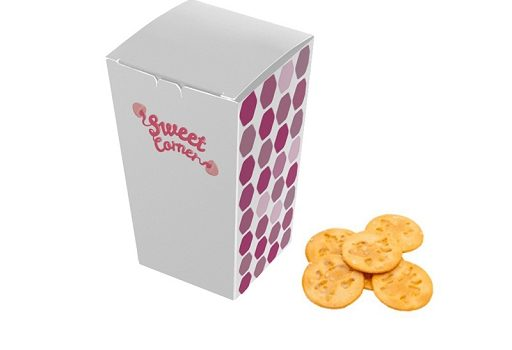 Promotion fragile round slices in paper box