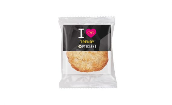 Promotion oat cookie with blank form